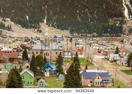 Silverton Panorama, Colorado, Usa