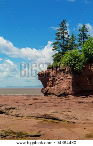 View at Burncoat Head Park on the Bay of Fundy in Nova Scotia.  Where the highest tides in the world are reported.