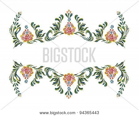 Hand Drawn vintage floral ornament.