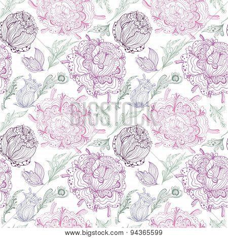 Romantic Provence Vector Pattern