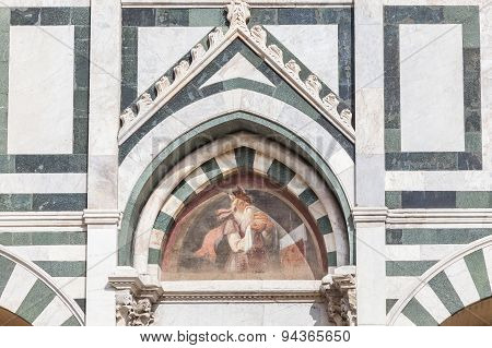 Detail Of The Facade Of Santa Maria Novella In Florence