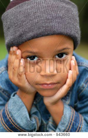 Child Thinking And Wondering