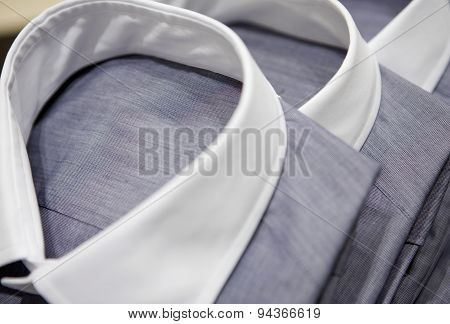 Mens Shirts With White Collars