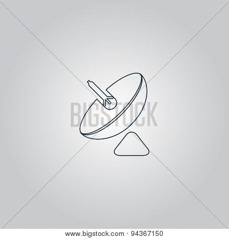 Simple icon antenna.