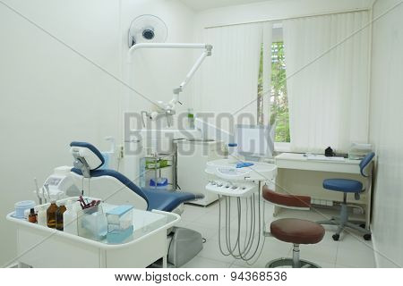 Interior of a dentist office