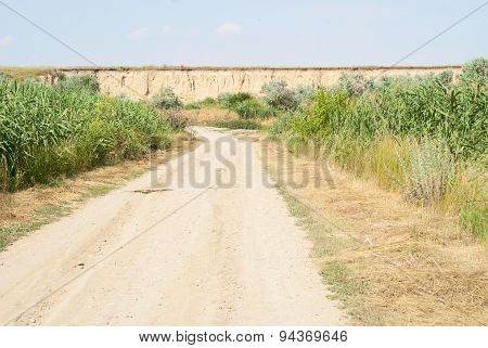 Road And Cliff