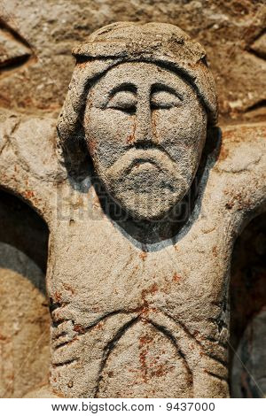 ancient statue of Jesus Christ