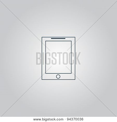 Vector smart tablet icon