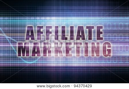 Affiliate Marketing on a Tech Business Chart Art