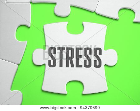 Stress - Jigsaw Puzzle with Missing Pieces.