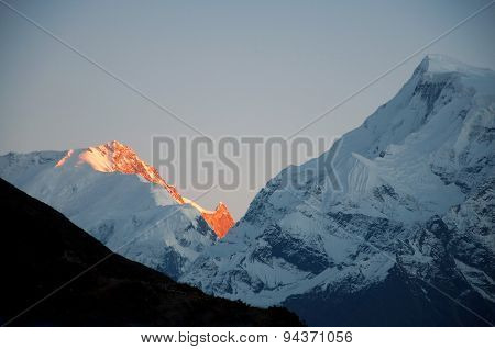 The Himalaya mountain peak