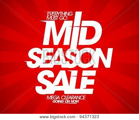 Mid season sale red design