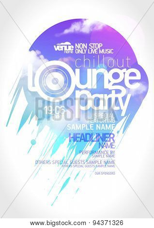 Art lounge party poster design.