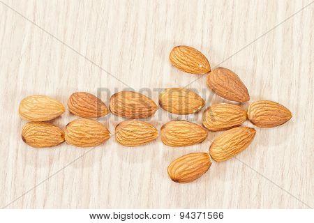 Arrow Right Of Almonds