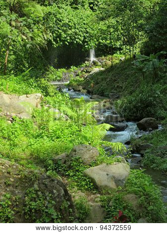 Way to waterfalls, Bali, Indonesia
