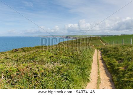 Coast path towards Thurlestone South Devon England UK from the direction of Hope Cove