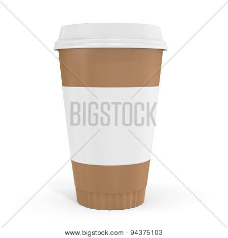 3D Blank Brown Coffee Cup