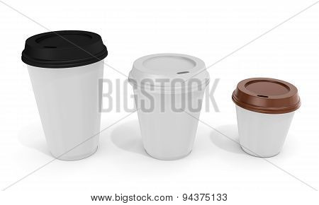 3D Blank Coffee Cups
