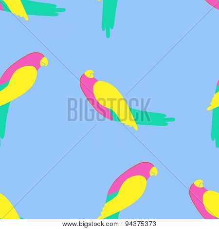 Parrot Seamless Pattern