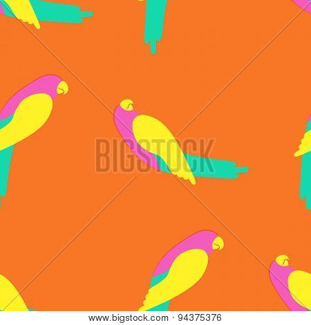 Macaw Parrot Seamless Pattern