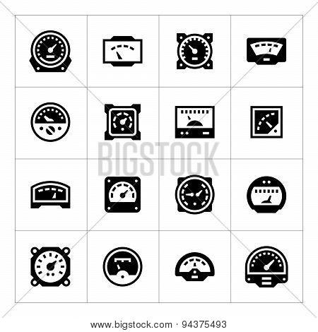 Set Icons Of Meter