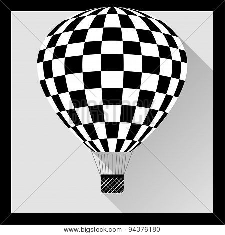 Hot Air Balloon In Flat Style