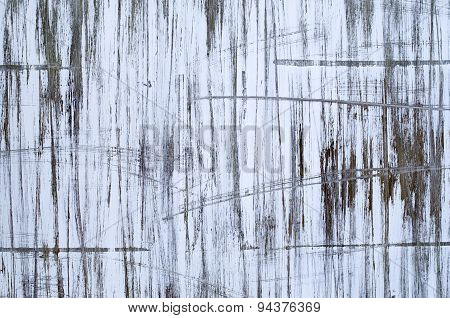 Abstract Paint Black And White  Scribble On Wall