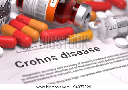 Crohns Disease - Medical Concept.