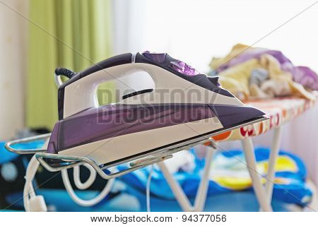 Iron On The Ironing Board