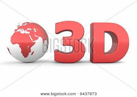 Global 3D - Metallic Red