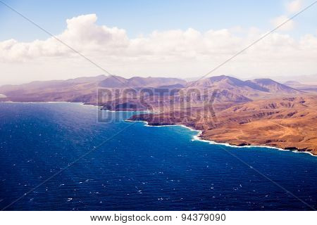 Canary Islands from the aircraft