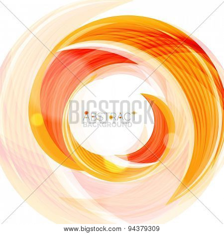 Vector swirl line abstract background. Modern layout for your message, slogan or brand name