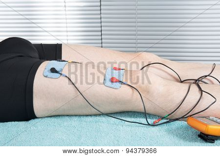Close-up Of Electrodes On Body