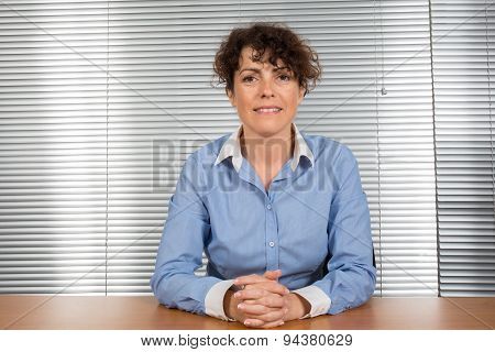 Portrait Of A  Business Woman Smiling, In An Office Environment