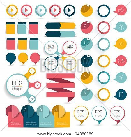 Set Infographics Design Elements.