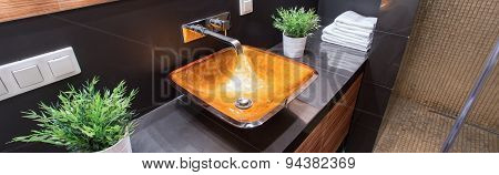 Fashionable Golden Sink