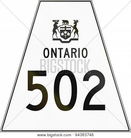 Ontario Highway Shield 502