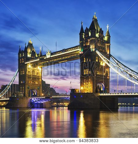 Tower Bridge In The Evening