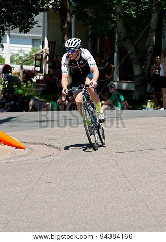 Ben Hill On Course At Stillwater Criterium