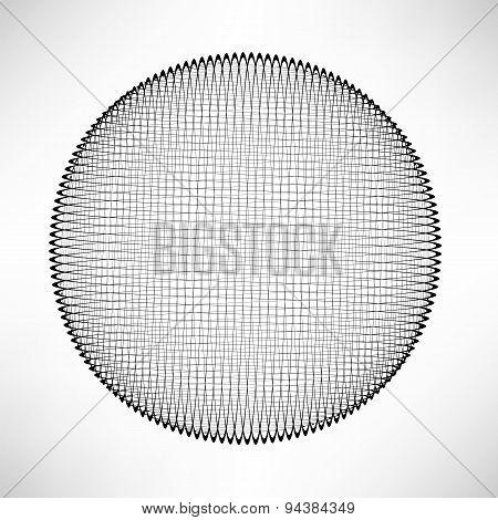 Circle Isolated on White Background