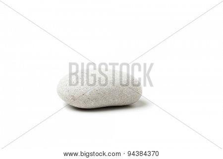 white pebble isolated on white background