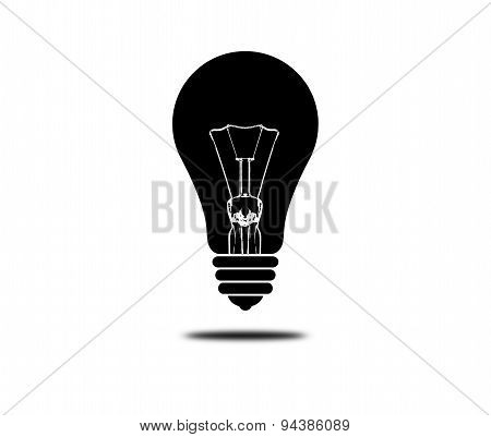 Black Light Bulb Isolated