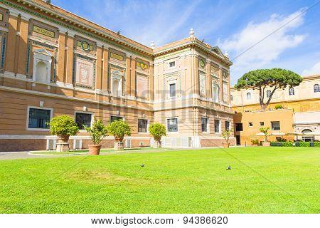 View of the Vatican museum garden