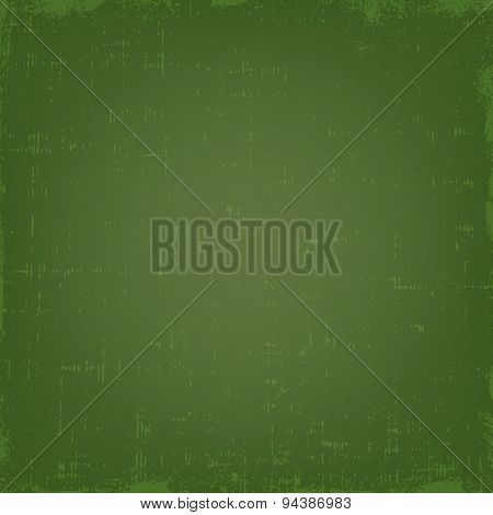 Vintage green grunge vector texture or background with gradient