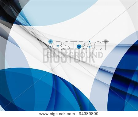Corporate blue wave background for your business message. Vector illustration