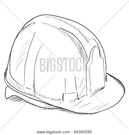 Constructions helmet icon.