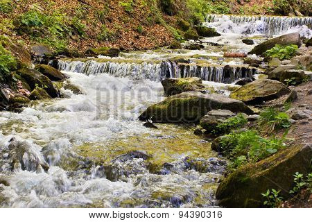River Falling Cascade Down