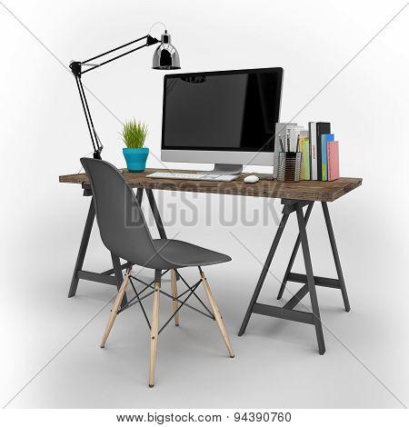 3D Rendering - Modern Workplace