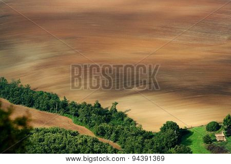 Cultivated fields in Italy