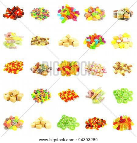 Repeating Candy Background and Isolated on White Art